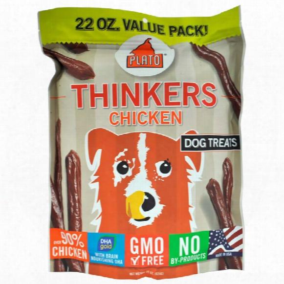 Plato Thinkers Chicken Sticks Dog Treats (22 Oz)