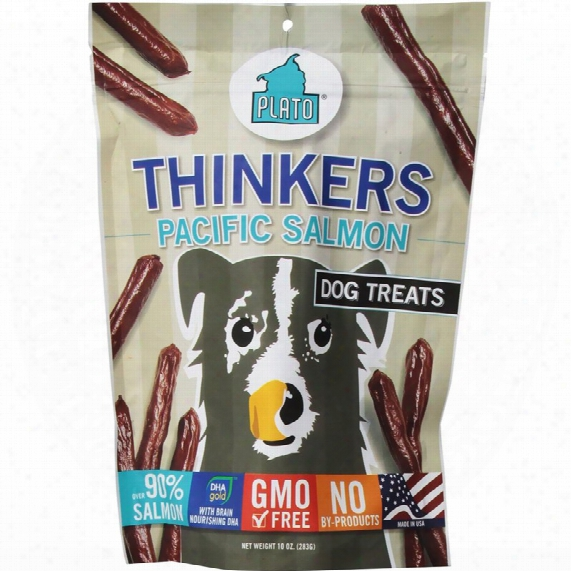 Plato Thi Nkers Pacific Salmon Sticks Dog Treats (10 Oz)