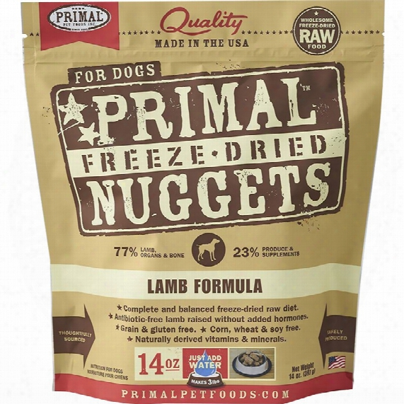 Primal Freeze Dried Lamb Dog Food (14 Oz)