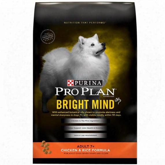 Purina Pro Plan Bright Mind - Chicken & Rice Dry Adult 7+ Dog Food (16 Lb)