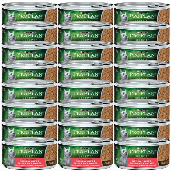 Purina Pro Plan Select - Natural Beef & Brown Rice Entrã©e Canned Dog Food (24x5.5oz)