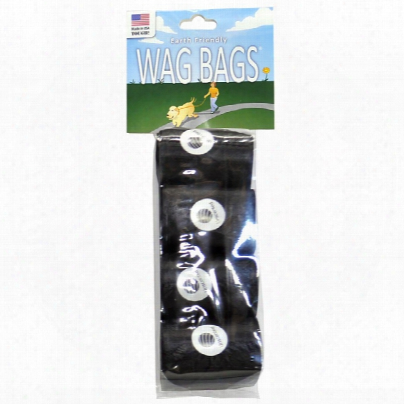 Wag Bags Refill Black - Unscented (60 Bags)