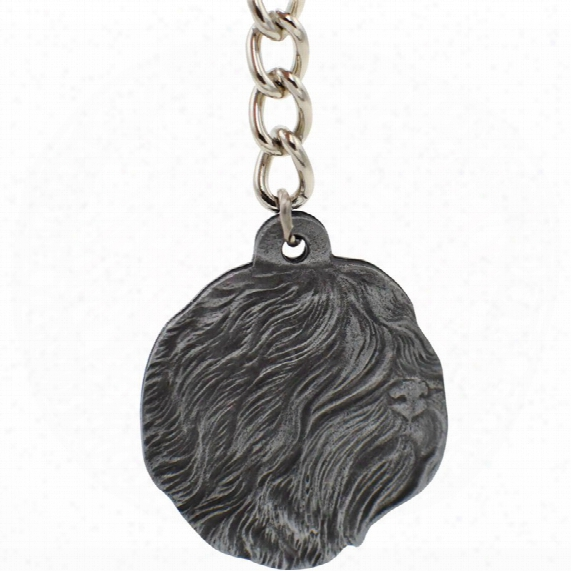 "Dog Breed Keychain Usa Pewter - Tibetan Terrier (2.5"")"