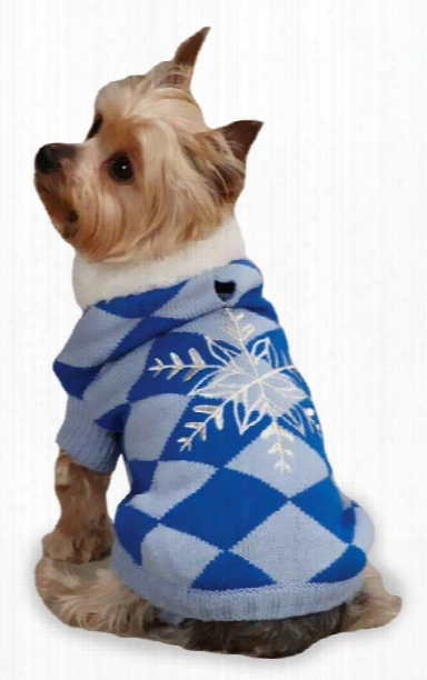 """East Side Collection Snowflake Snuggler Sweaters Blue - L (20"""")"""