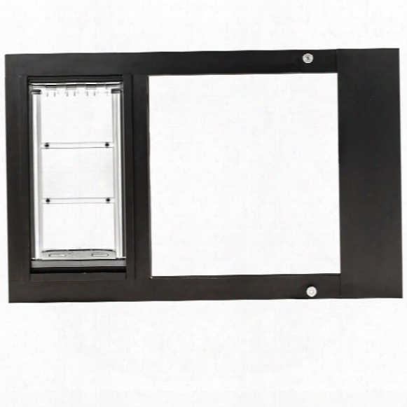 "Endura Flap Pet Door - Thermo Sash 2e With Sureflap Microchip Bronze Frame (22""-25"")"