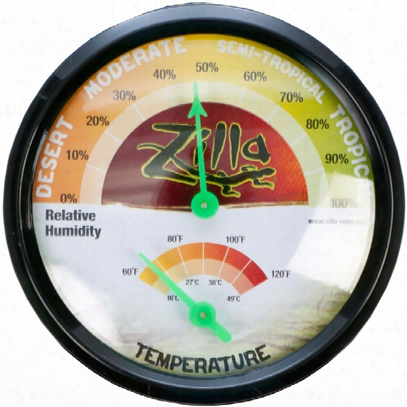 R-zilla Humidity & Temperature Gage Terrarium