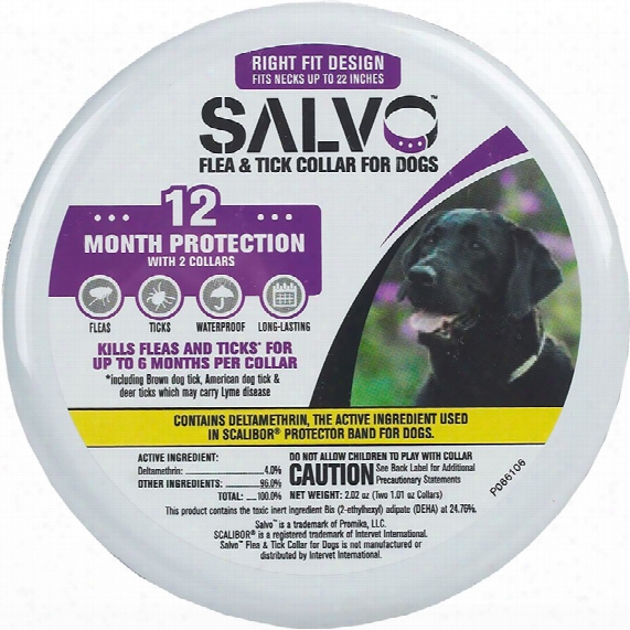 Salvo Flea And Tick Collar For Dogs - Large