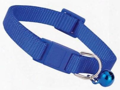 "Savvy Tabby Nylon Breakaway Cat Collars - 3/8"" Fits 8""-12"" Necks - Nautical Blue"