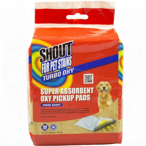 Shout Pets Super Absorbent Oxy Pickup Pads (25-pack)