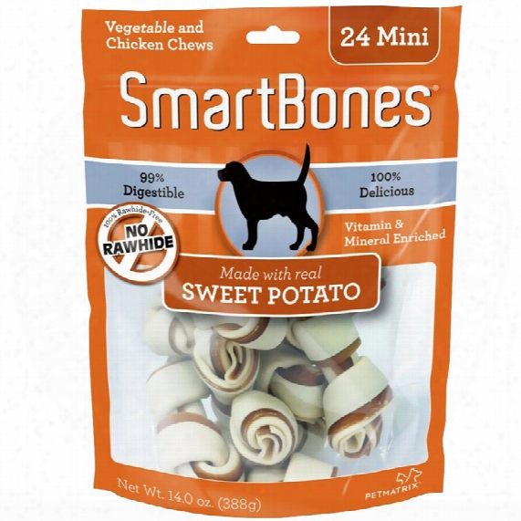 Smartbones Mini Sweet Potato Chews (24 Pack)
