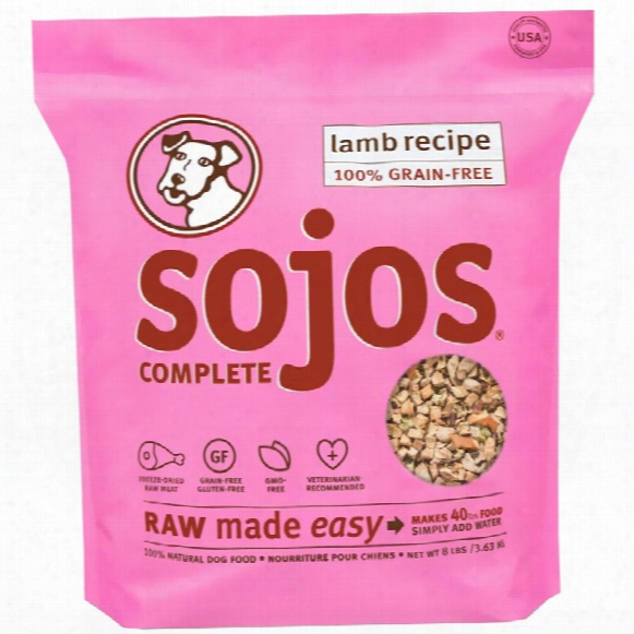 Sojos Cmplete Dog Food - Lamb (8 Lb)