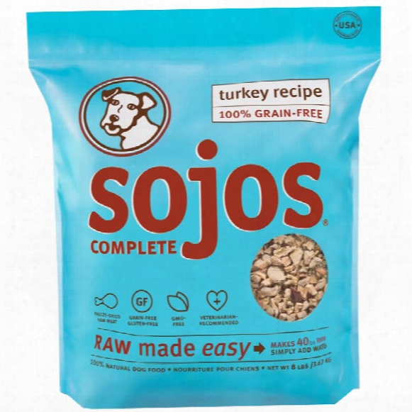 Sojos Complete Dog Food - Turkey (8 Lb)