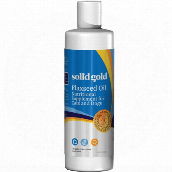 Solid Gold Flaxseed Oil (12 Oz)