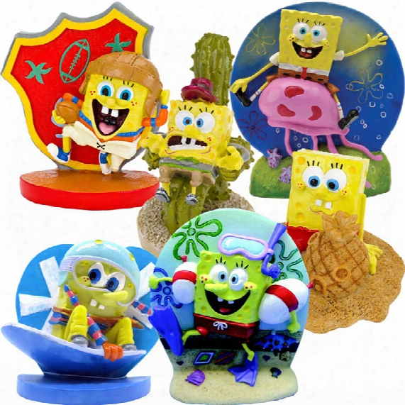 Spongebob Action Figures Aquarium Ornament Set