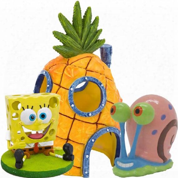 Spongebob & Home Aquarium Ornament Set
