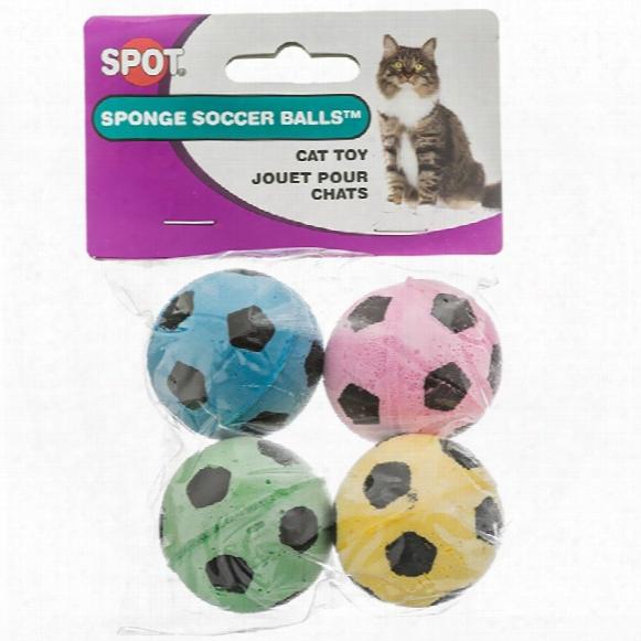 Spot Sponge Soccer Balls Cat Toy (4 Pack)