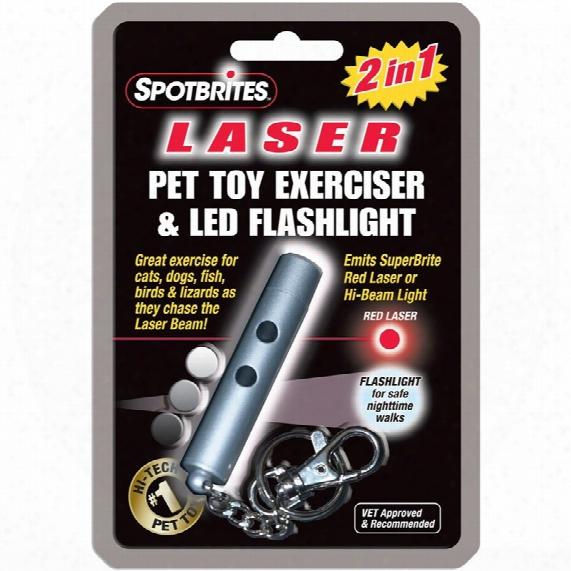 Spotbrites 2 In 1 Laser/led Pet Toy Exerciser & Flashlight