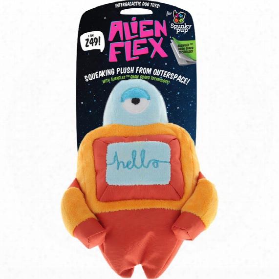 Spunky Pup Alien Flex Plush Toy - Z 49