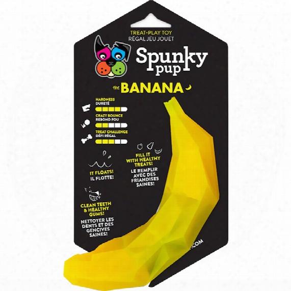 Spunky Pup Treat Holding Play Toy - Banana