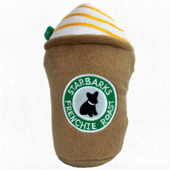 Starbarks Frenchie Roast Latte Squeaker Plush Toy