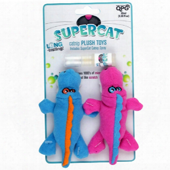 Supercat Plush Gators With Catnip Spray