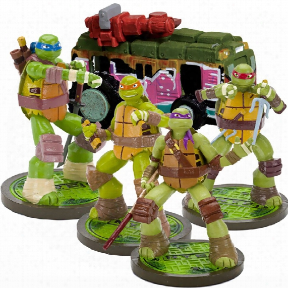 Teenage Mutant Ninja Turtles, April & Van Aquarium Ornament Set