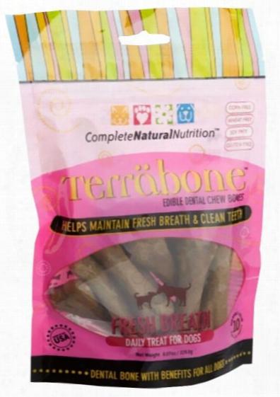 Terrabone Dental Chew Bones Fresh Breath - Small (10 Count)