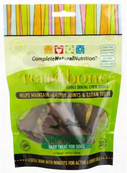 Terrabone Dental Chew Bones Jump'n Joints - Small (10 Count)