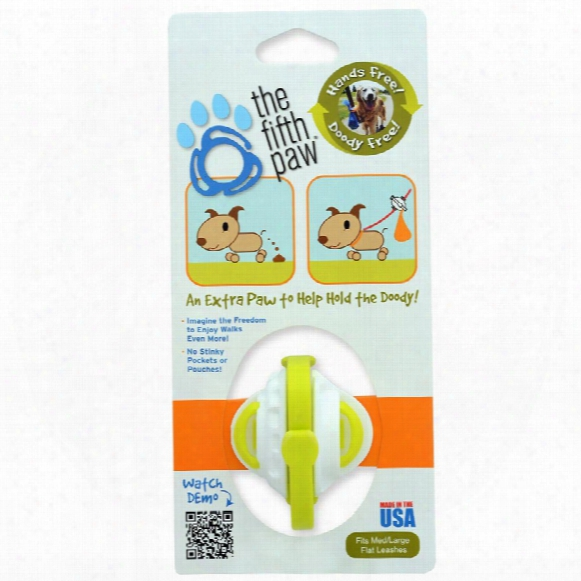 The Fifth Pa - Hands Free Poop Bag Carrier Leash Attachment (lime)