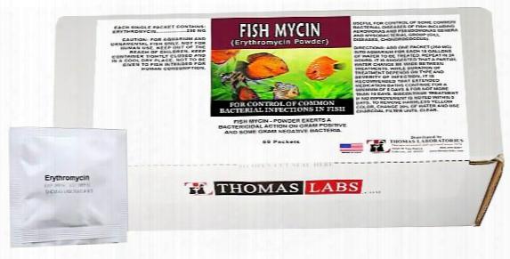 Thomas Labs Fish Mycin 250mg - Erythromycin Powder (60 Packets)
