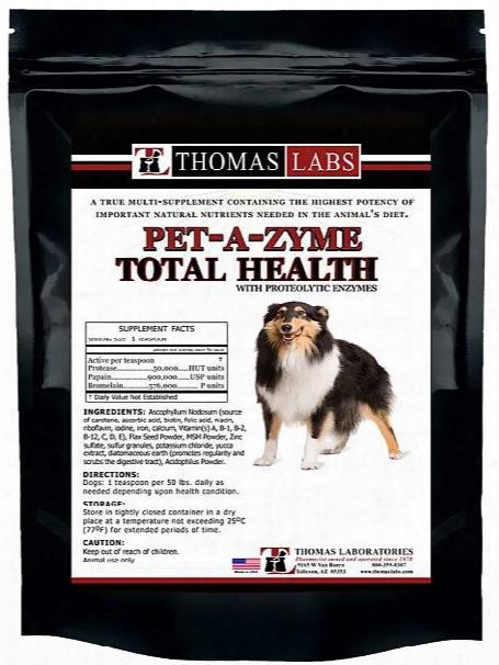 Thomas Labs Pet-a-zyme Total Health Prozyme Powder (16 Oz)