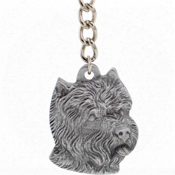 "Dog Breed Keychain Usa Pewter - West Highland Terrier (2.5"")"