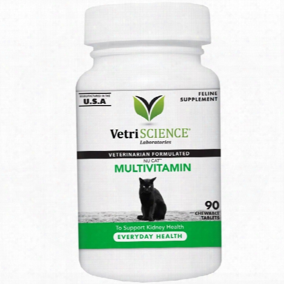 Nucat Multivitamin For Cats (90 Chewable Tablets)