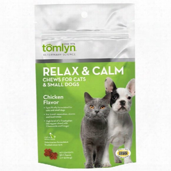 Tomlyn Relax & Calm Chews For Cats & Small Dogs (30 Count)