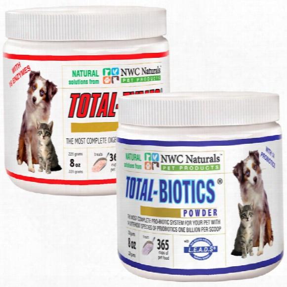 Total Digestive Solution (1 Total-zyme 8oz & 1 Total-biotics 8oz)