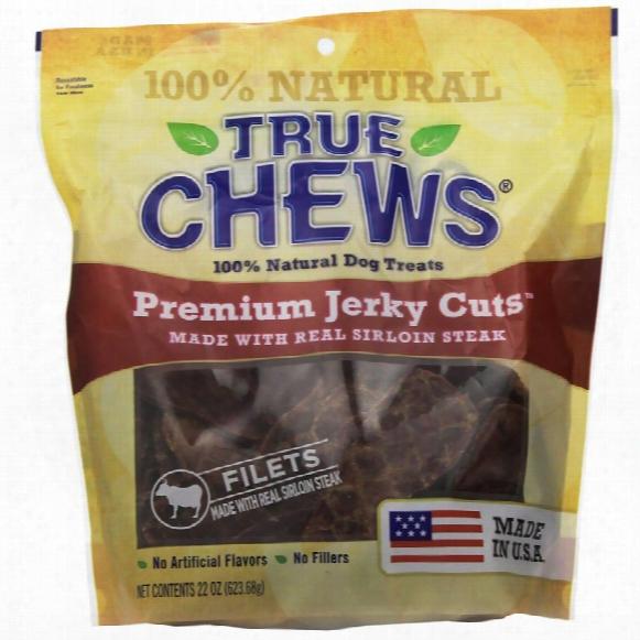 True Chews Premium Jerky Cuts - Sirloin Steak Filets (22 Oz)