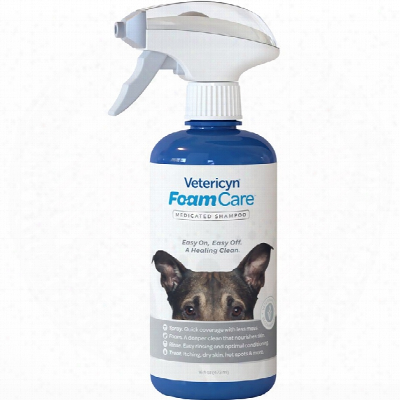 Vetericyn Foamcare Medicated Shampoo For Pet (16 Fl Oz)