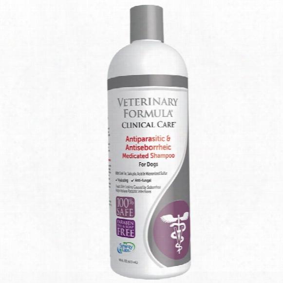 Veterinary Formula Clinical Care Antiparasitic & Antiseborrheic Medicated Shampoo For Dogs (16 Fl Oz)