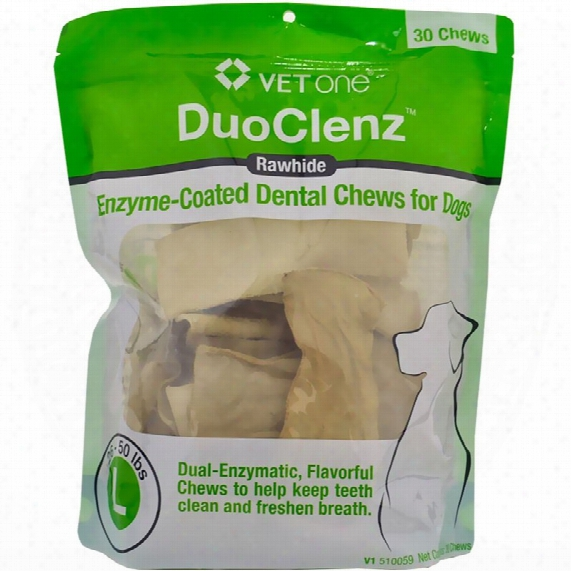 Vetone Duoclenz Enzyme-coated Dental Chews Large (30 Count)