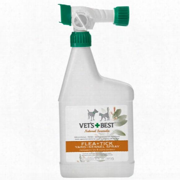 Vet's Best Natural Flea & Tick Yard & Kennel Spray (32 Oz)