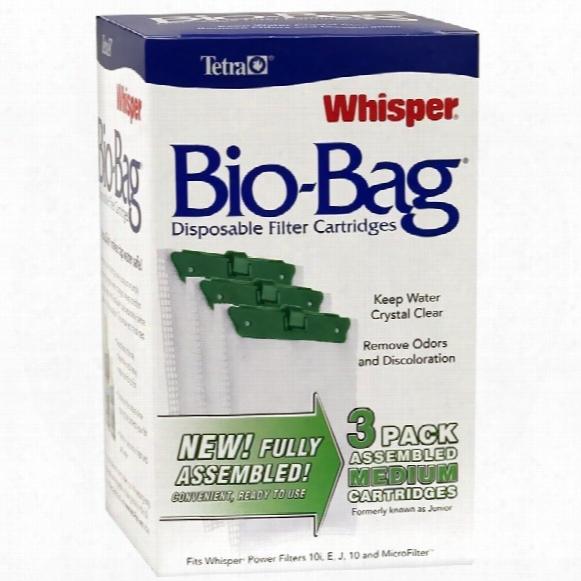 Whisper Assembled Bio-bag Cartridge Medium (3 Pack)
