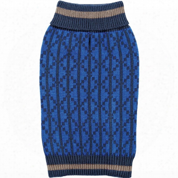 Zack & Zoey Elements Geometric Sweater - Blue (large)