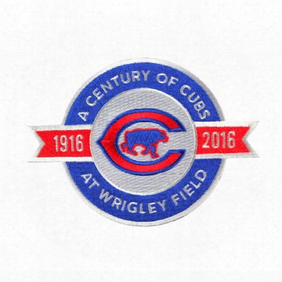 "2016 Chicago Cubs ""a Century Of Cubs At Wrigley Field"" 100th Anniversary Jersey"