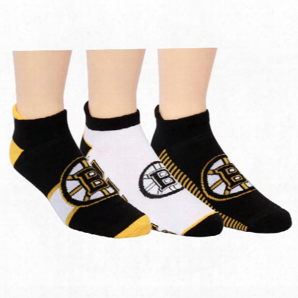Boston Bruins Men's 3-pack No Show Socks