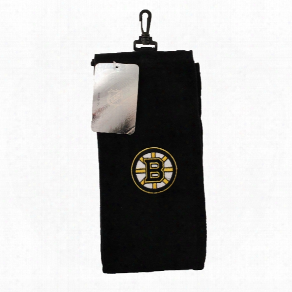 Boston Bruins Nhl Trifold Cotton Golf Towel