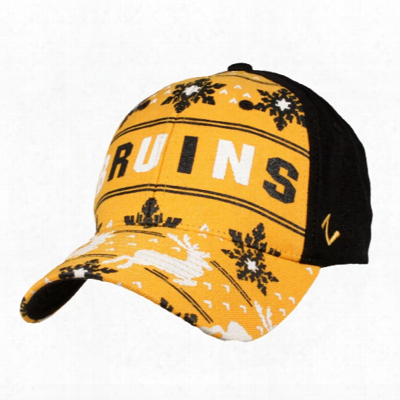 Boston Bruins Reindeer Zfit Flex Cap