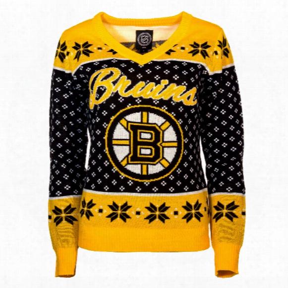 Boston Bruins Women's Nhl 2016 Ugly V-neck Sweater