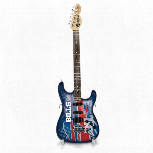 Buffalo Bills Woodrow Northender Nfl Collectible 10&quot Mini Guitar
