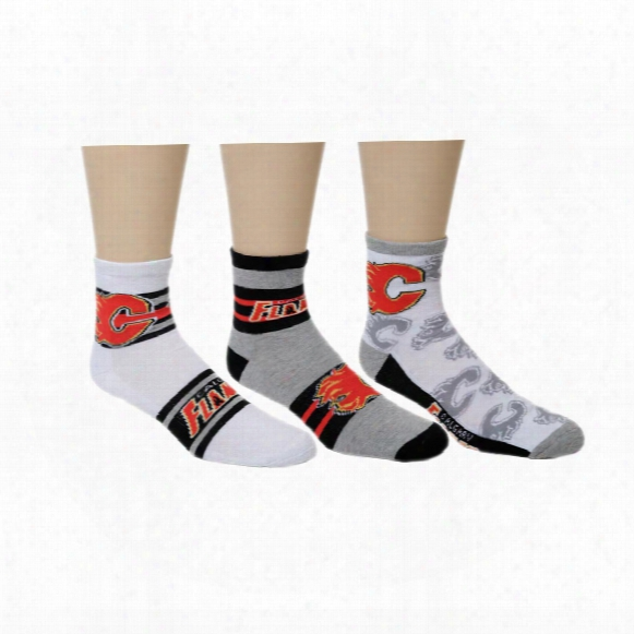 Calgary Flames Men's 3-pack Quarter Socks