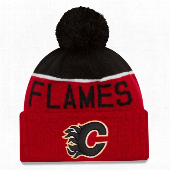 Calgary Flames New Era Nhl Cuffed Sport Knit Hat